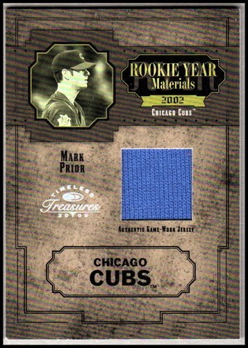 Photo of 2005 Timeless Treasures Rookie Year Materials Year #46 Mark Prior Jsy/100