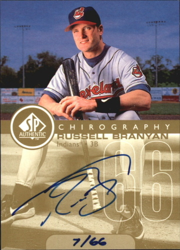 Photo of 1999 SP Authentic Chirography Gold #RB Russ Branyan/66