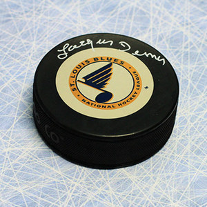 Jacques Demers St Louis Blues Autographed Hockey Puck