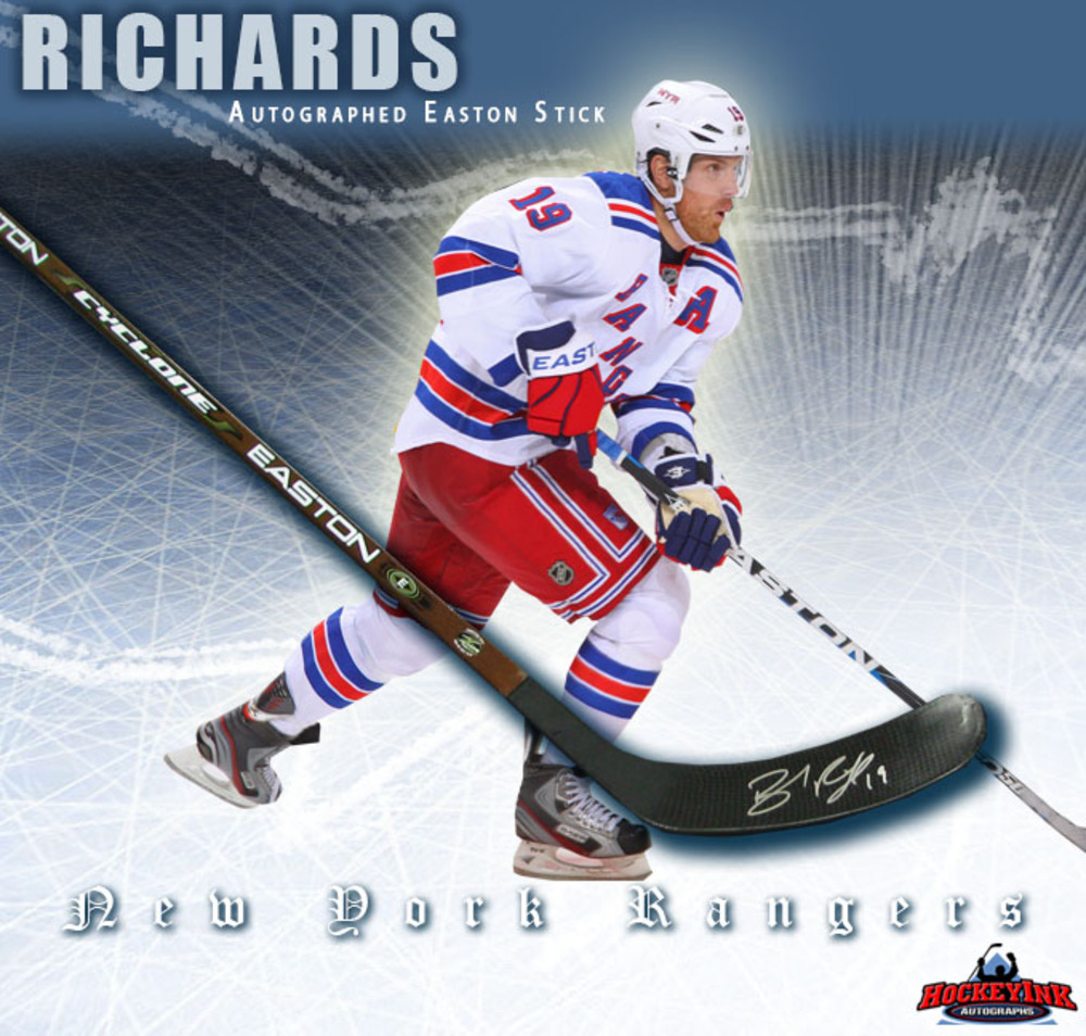 BRAD RICHARDS Signed Easton Stick - New York Rangers