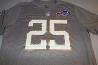 NFL - BILLS LESEAN MCCOY 2016 PRO BOWL LIGHT GRAY T-SHIRT WITH NAME AND NUMBER - SIZE XL