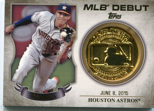 Photo of 2016 Topps MLB Debut Medallion #MLBDM221 Carlos Correa S2