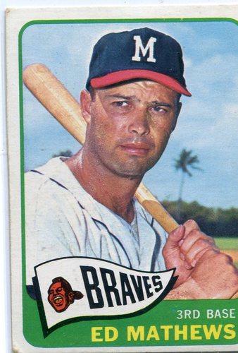 Photo of 1965 Topps #500 Eddie Mathews -- Braves Hall of Famer