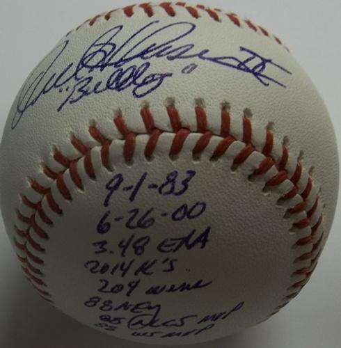 Photo of Orel Hershiser Autographed STATS Baseball (Orel Leonard Hershiser IV / Bulldog / 9-1-83 - 6-26-00 / 3.48 era / 2,014 K / 204 wins / 88 NL Cy Young/88 MLCS MVP/WS MVP)