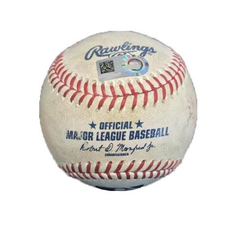Photo of Game-Used Baseball from Pirates vs. Nationals on 5/16/17 - LeBlanc to T. Turner, Werth - Turner Ground Out, 3 Pitches to Werth