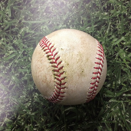 Photo of Game-Used Baseball 05/11/17 BOS@MIL - Jimmy Nelson to Jackie Bradley Jr: Strikeout