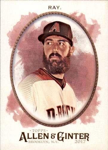 Photo of 2017 Topps Allen and Ginter #168 Robbie Ray -- D'backs post-season