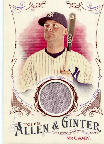 Photo of 2016 Topps Allen and Ginter Relics #FSRBBM Brian McCann -- Yankees post-season