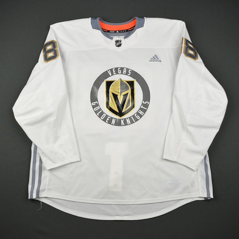 Nate Schmidt Warmup Worn/Autographed Practice Jersey - Vegas Golden Knights