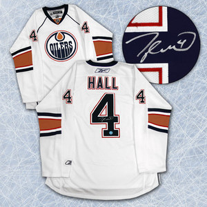 Taylor Hall Edmonton Oilers Autographed Reebok Premier White Rookie Jersey