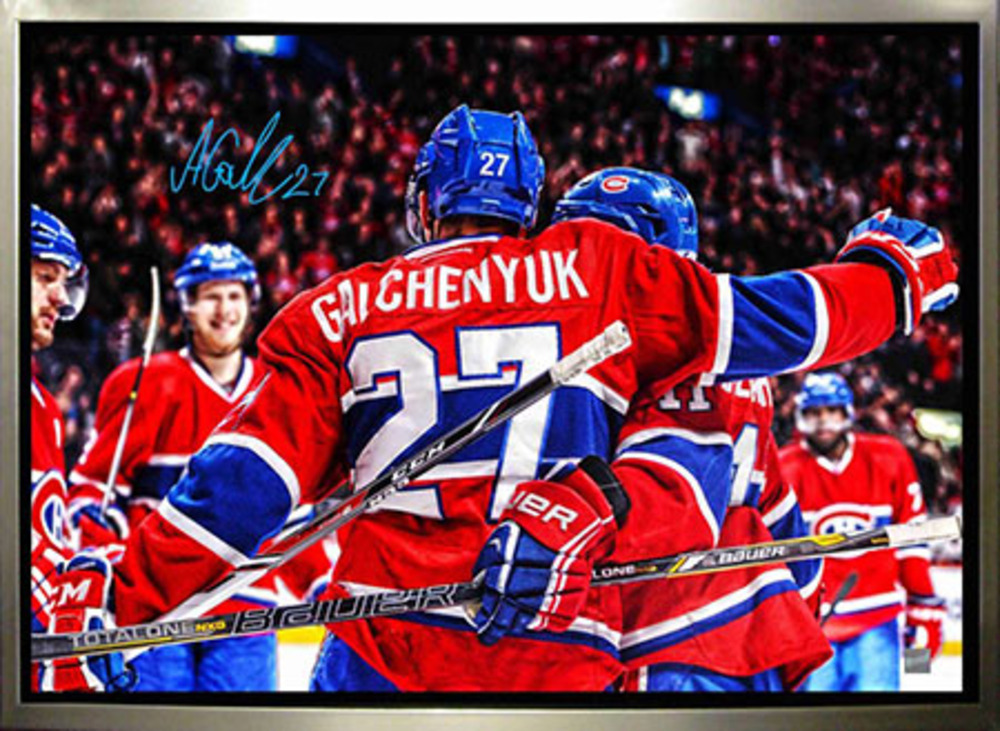 Alex Galchenyuk - Signed & Framed 20x29 Canvas - Montreal Canadiens Celebration