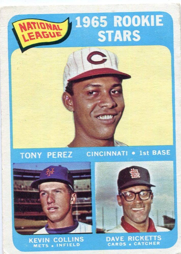 1965 Topps #581 Rookie Stars/Tony Perez Rookie Card /Dave Ricketts RC/Kevin Collins RC
