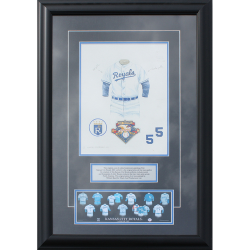 Photo of 2001 Jersey History Frame (Non authenticated)