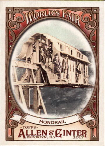 Photo of 2017 Topps Allen and Ginter World's Fair #WF14 Monorail/Centennial Exposition