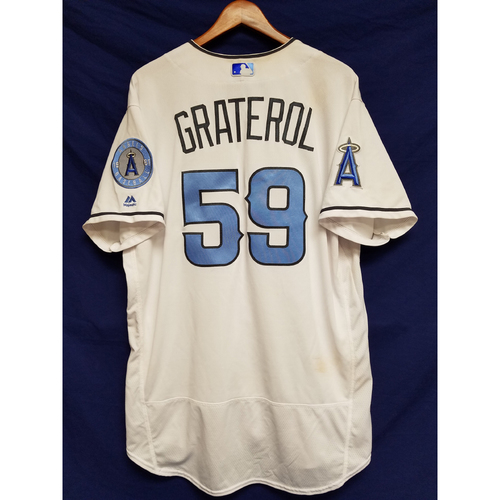 Photo of Juan Graterol Game-Used Blue Fathers Day Jersey