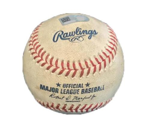 Photo of Game-Used Baseball from Pirates vs. Nationals on 5/17/17 - Cole to Lobaton, J. Turner - Lobaton Single, Turner Foul