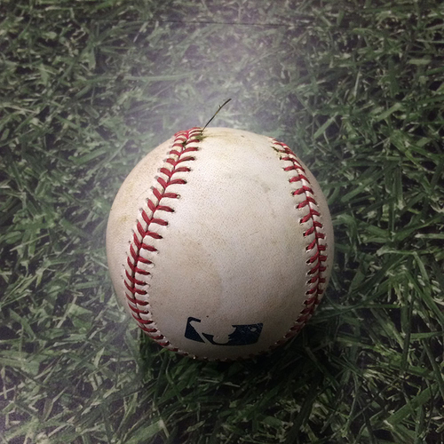 Photo of Game-Used Baseball 05/10/17 BOS@MIL - Chase Anderson to Xander Bogaerts: Single