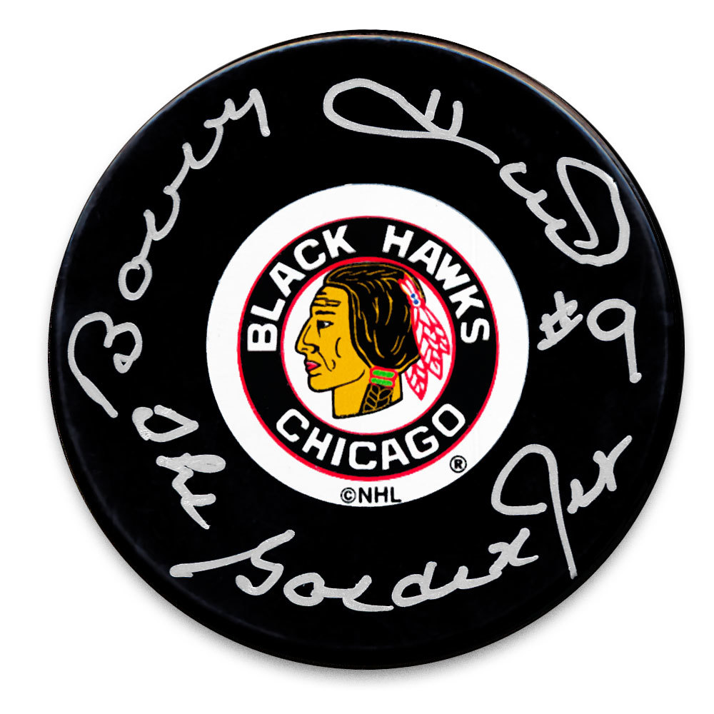 Bobby Hull Chicago Blackhawks The Golden Jet Autographed Puck