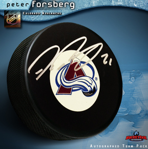 PETER FORSBERG Signed Colorado Avalanche Puck