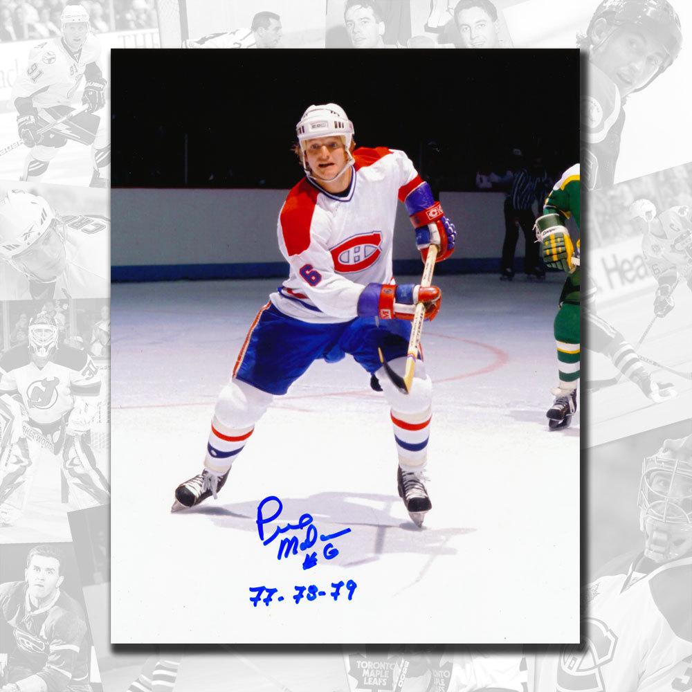 Pierre Mondou Montreal Canadiens SC Years Autographed 8x10