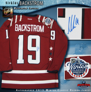 NICKLAS BACKSTROM Signed Washington Capitals 2015 Winter Classic Reebok Jersey