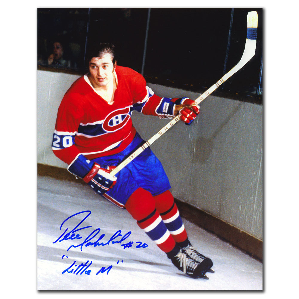 Pete Mahovlich Montreal Canadiens Little M Autographed 8x10
