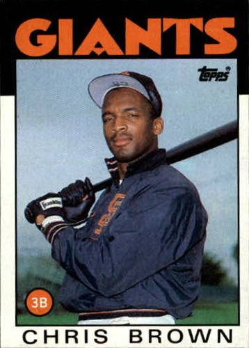 Photo of 1986 Topps #383 Chris Brown RC