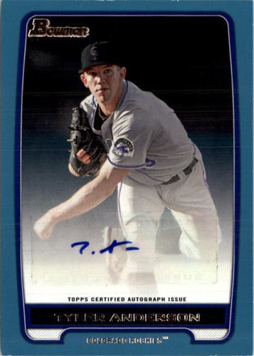 Photo of 2012 Bowman Prospect Autographs Blue #TA Tyler Anderson