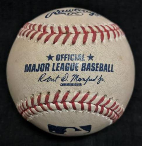 Photo of Game-Used Baseball from Pirates vs. Diamondbacks on 5/24/16 - Liriano to Goldschmidt, Single