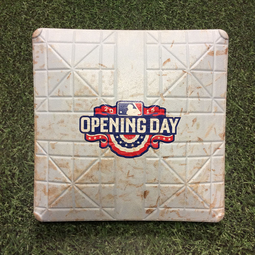 Photo of Game-Used 2015 Opening Day 3rd Base - COL @ MIL - Arenado's 1st HR of 2015