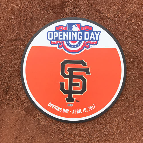 Photo of San Francisco Giants - 2017 Opening Day Field Marker