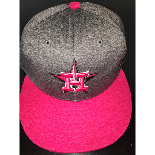 Photo of Game-Used Mother's Day Cap: Jose Altuve