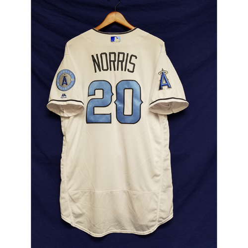 Photo of Bud Norris Game-Used Blue Fathers Day Jersey