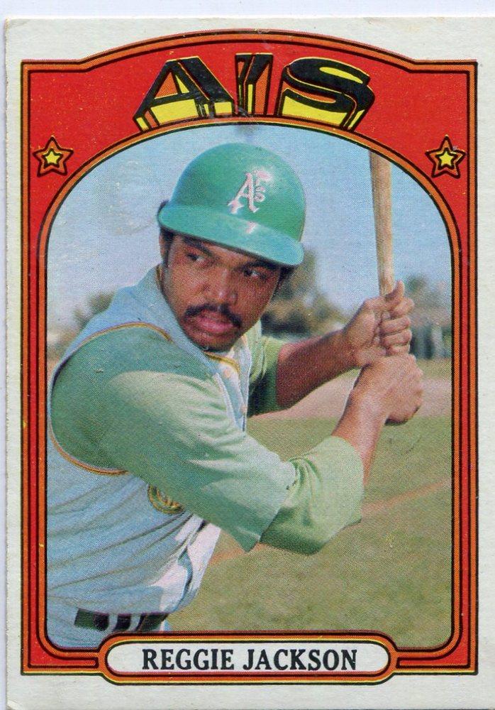 1972 Topps #435 Reggie Jackson-- Hall of Famer