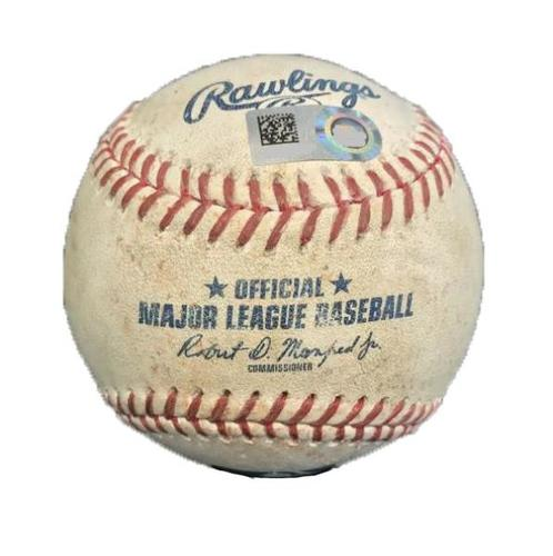 Photo of Game-Used Baseball from Pirates vs. Diamondbacks on 5/31/17 - Nicasio to Owings, Double