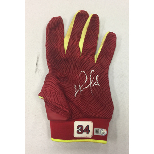 Photo of David Ortiz June 29, 2016 Autographed, Game-Used Batting Glove