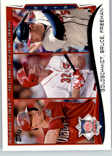 Photo of 2014 Topps #143 Paul Goldschmidt/Jay Bruce/Freddie Freeman LL