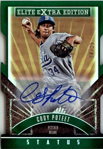 Photo of 2015 Elite Extra Edition Prospect Autographs Status Emerald Die Cut #117 Cody Poteet/25