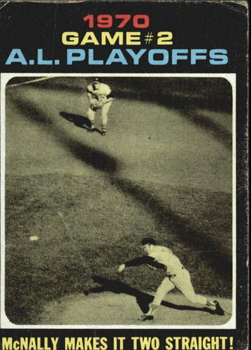 Photo of 1971 Topps #196 AL Playoff Game 2/Dave McNally