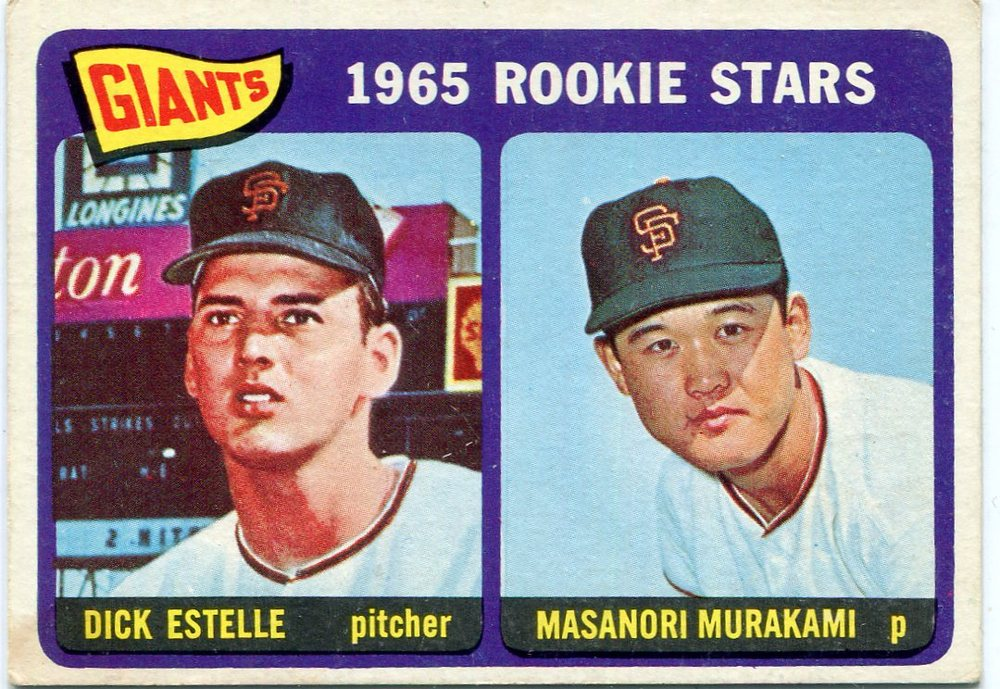1965 Topps #282 Rookie Stars/Dick Estelle RC/Masanori Murakami Rookie Card