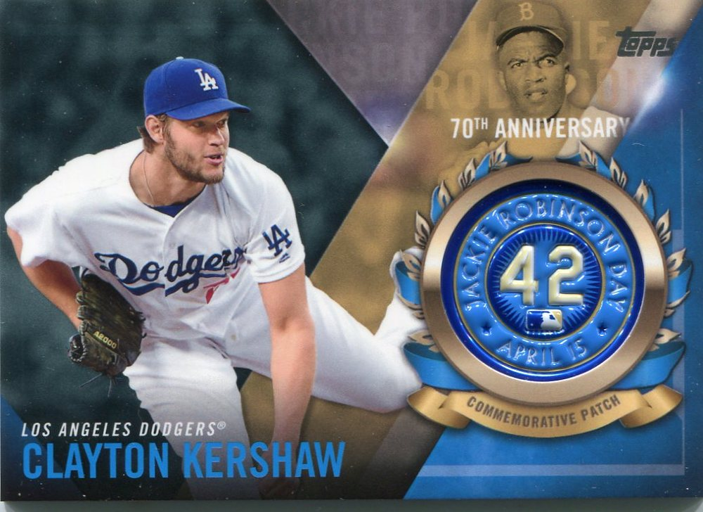 2017 Topps Jackie Robinson Logo Patches #JRPCCK Clayton Kershaw