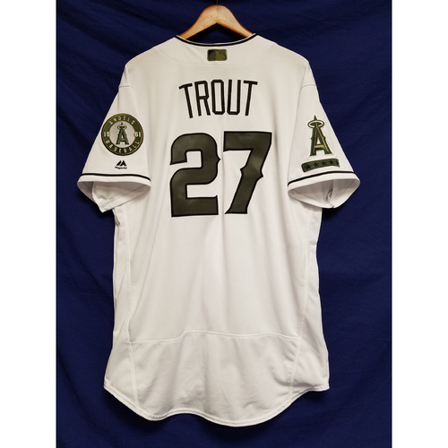 Photo of Mike Trout Memorial Day Jersey Team-Issued Jersey