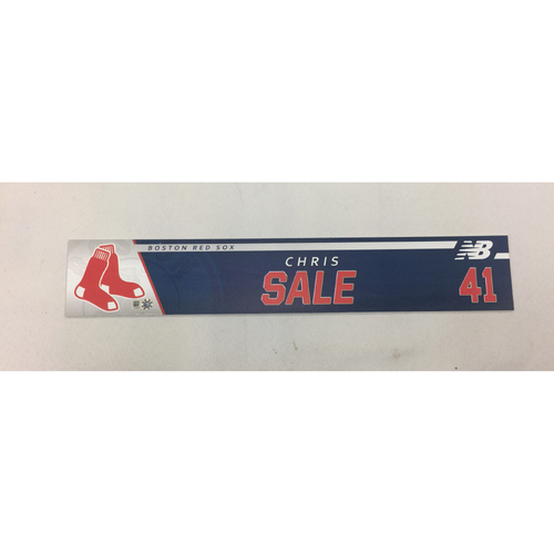 Photo of Chris Sale Game-Used April 6, 2017 Locker Tag