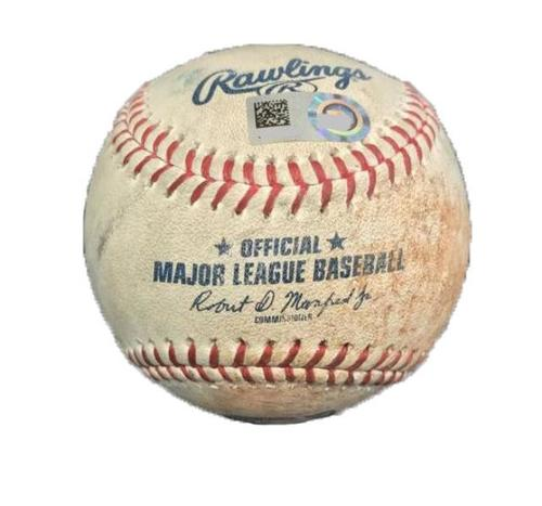 Photo of Game-Used Baseball from Pirates vs. Rockies on 6/13/17 - Chatwood to Bell, Single