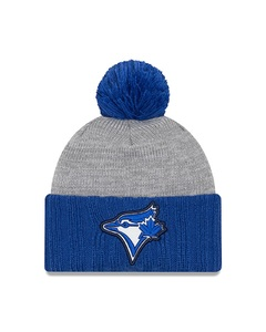 Toronto Blue Jays Flected Frost Pom Knit Toque by New Era