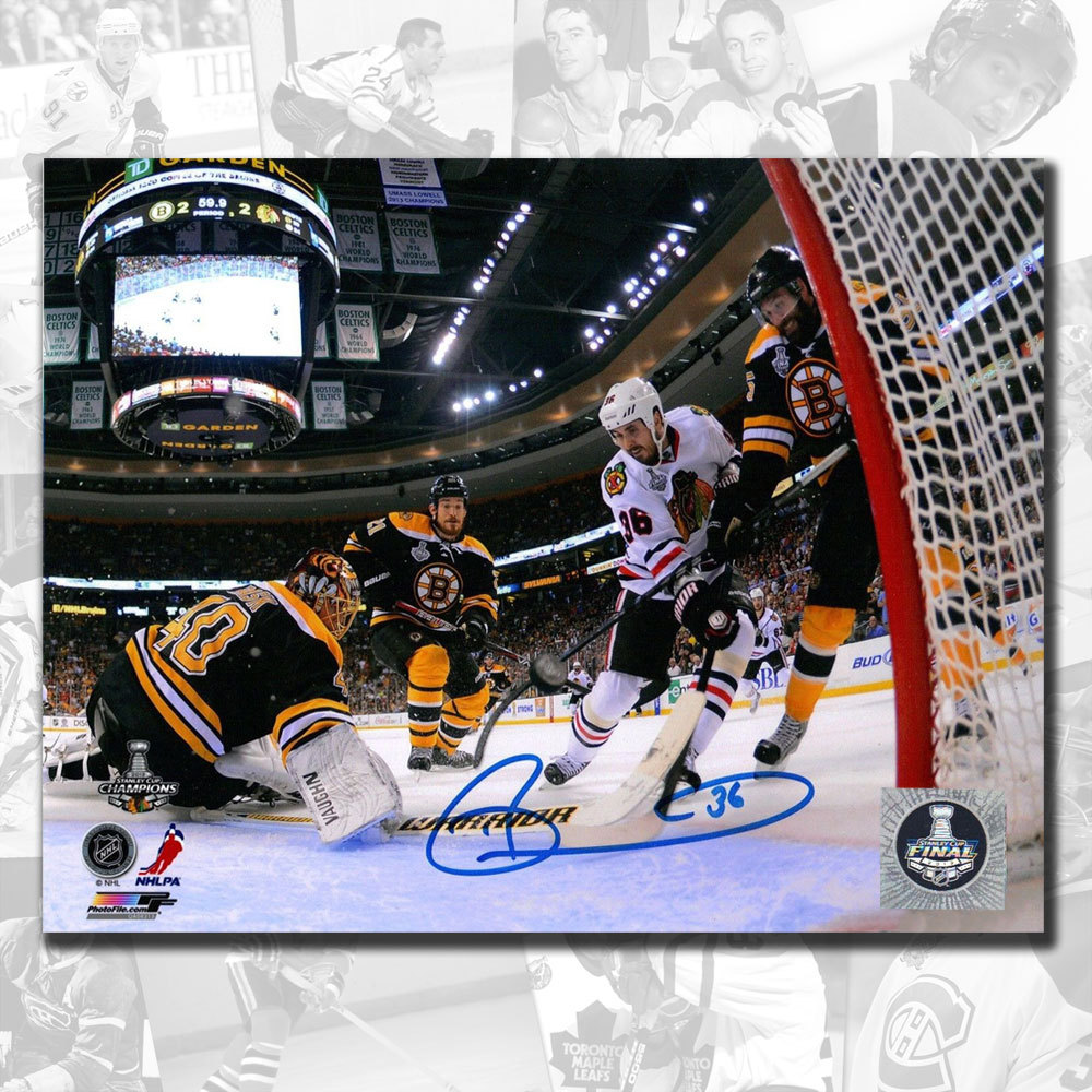 Dave Bolland Chicago Blackhawks 2013 Stanley Cup Game Winning Goal Autographed 8x10