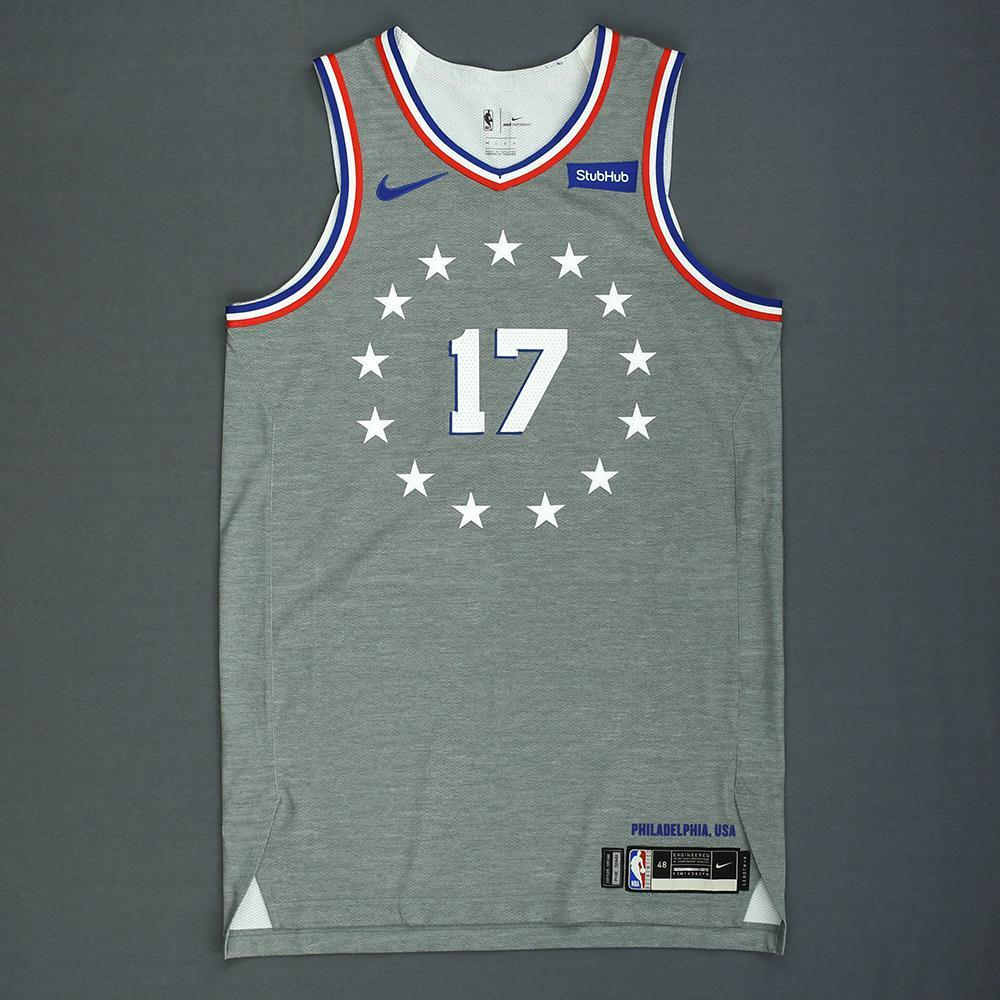 JJ Redick - Philadelphia 76ers - Game-Worn City Edition Jersey - 2018-19 Season
