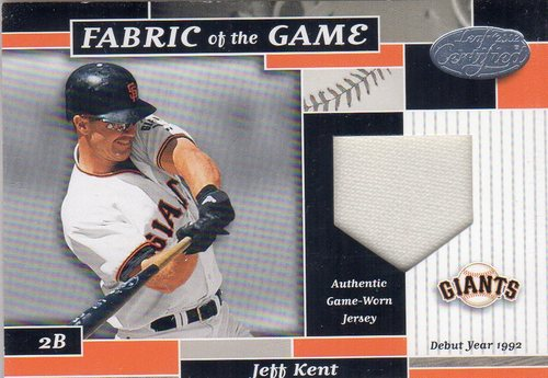 Photo of 2002 Leaf Certified Fabric of the Game #114DY Jeff Kent/92