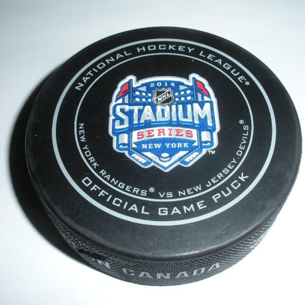 2014 Stadium Series - Rangers vs Devils - Game Puck - Second Period - 3 of 3