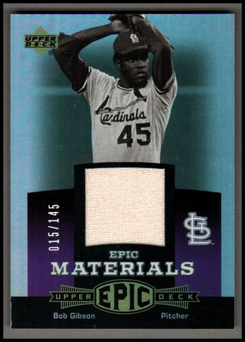 Photo of 2006 Upper Deck Epic Materials Dark Purple #BG2 Bob Gibson Pants/145